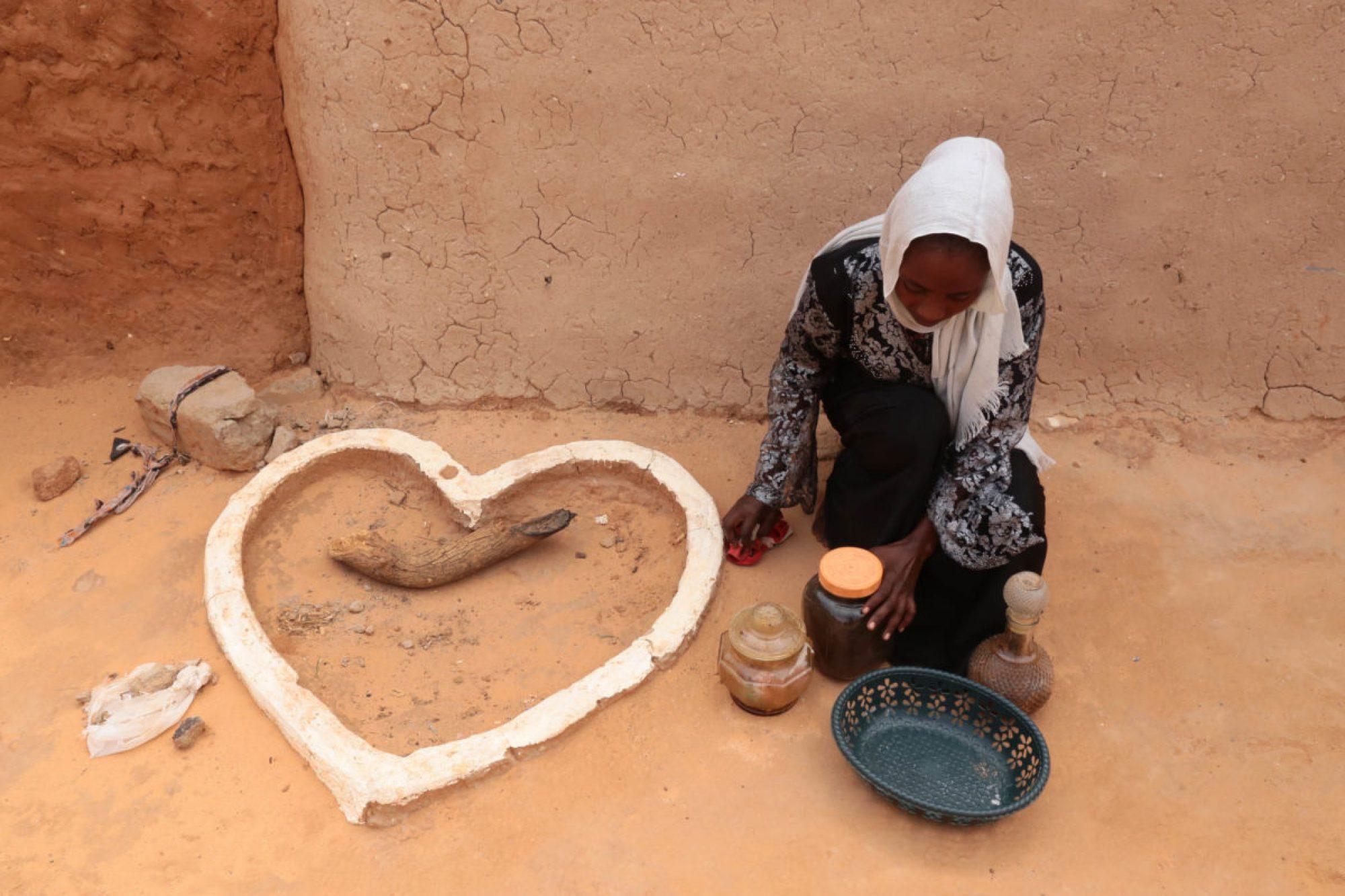 Chica en el campamento de refugiados de Touloum, Chad.