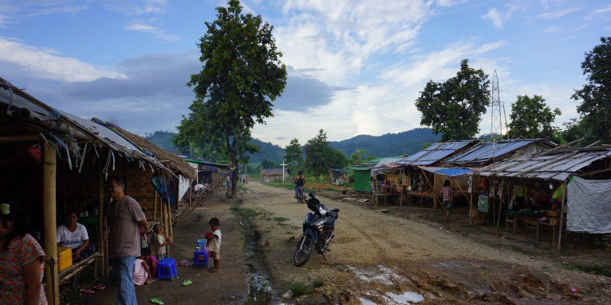 Campamento de desplazados internos en el estado Kachín, Myanmar.